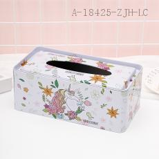 Unicorn Pattern Tissue Box 24*12.5*9cm