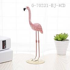 Flamingo Ornaments  8*7*20cm  paper pack-ups
