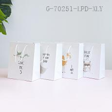 Small  English Hand-painted Gift Bag  210g  10*18*23cm