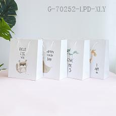 Large  English Hand-painted Gift Bag  210g  26*32*12cm