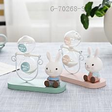 Rabbit Hourglass  Color box  14*14.5*5.5cm