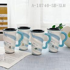 XS-8040  Marine Spiral Cup  Color box  15*9*6cm 570ml