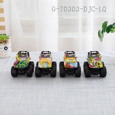 Four-Wheel Drive Graffiti Toy Car  9.2*3.8*7.3cm