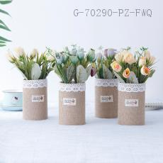 CYY-3  Rose Lace Edging Potted Plant  24*7.5cm