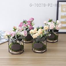 CYY-50  Rose Potted  14*14*25cm