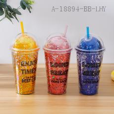 AS  Double Lid ice Cup  450ml  19*10*6.5cm