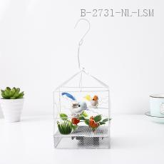 Square Decorative Bird Cage  Color box  14*10cm