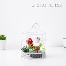 Hexagonal Decorative Bird Cage  Color box  14*10cm