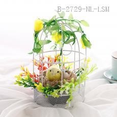 Round Flower Semicircular Bird Cage  Color box  18*10cm