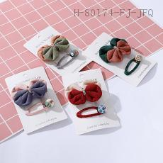 Two-Color Button Hair Clip