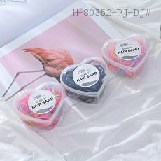 Heart-Shaped Boxed Disposable Rubber Band