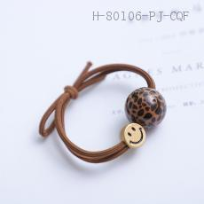 Round Bead Smiley Rubber Band  5cm  100pcs