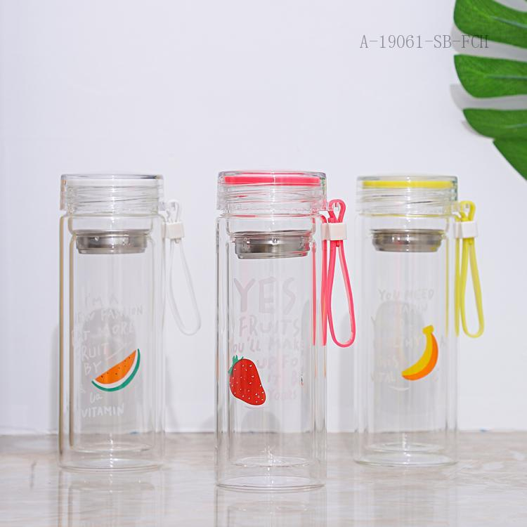 Fruit Double Glass  Color Box  18*6.5cm