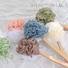 Two-Sided Two-Color Wooden Handle Bath Flower  50g  35cm