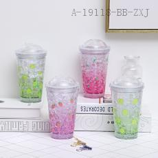 F1925a  New Fruit Push Cover Ice Cup  20*6.5*9.5cm  450ml