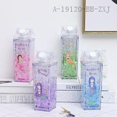 F20B  Square Mermaid Milk Ice Cup  24*7*7cm  550ml