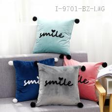 Embroidered Hair Ball Pillow  43*43cm  400g
