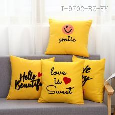 Towel Embroidered Yellow Pillow  43*43cm  400g