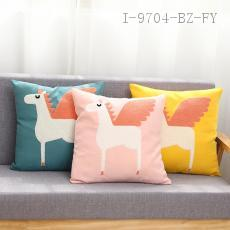 Towel Embroidered Unicorn Pillow  43*43cm  400g