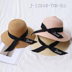 Embroidered Ribbon Sun Hat