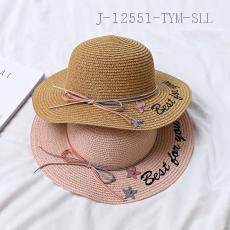 Children's Embroidered Ribbon Sun Hat