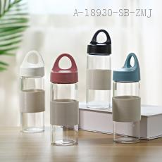 F397A  Handle Glass Cup  320ML  6.0*6.0*19.2cm