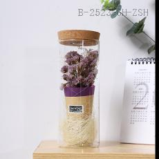 Crystal Flower Glass Dried Flower  8*20cm