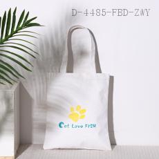 Cat Claw Element Canvas Bag  31.5*37.5cm