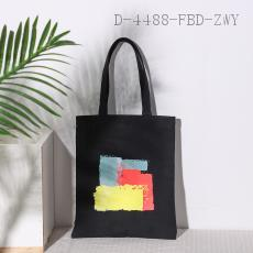 Fashion Contrast Canvas Bag  31.5*37.5cm