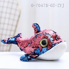 Sequined Dolphin Doll  28cm