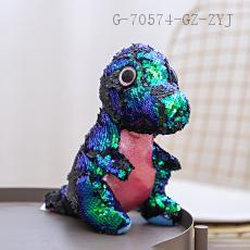 Sequin Sitting Dinosaur Doll  23cm
