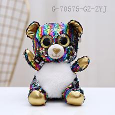 Sequin Bear Doll  20cm