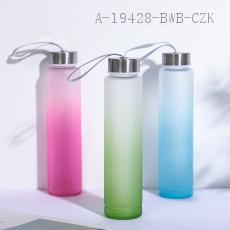 6208  Gradient Frosted Glass  350ml  21*5cm
