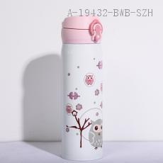 0004  Owl Thermos Cup  Color Box  500ml  22*6.5cm