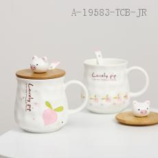 Fruit pig garden ceramic cup  The Carton  7*11cm