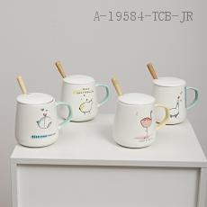 Nordic Stick Figure Ceramic Cup  The Carton  9*12cm