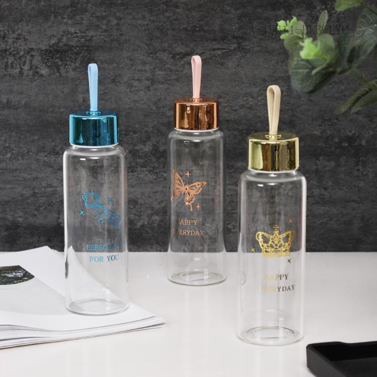 Glitter Crown Fashion Glass Cup  Paper Package  330ml